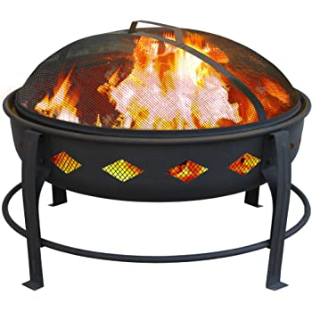 Pleasant Hearth Martin Extra Deep Wood Burning Fire Pit
