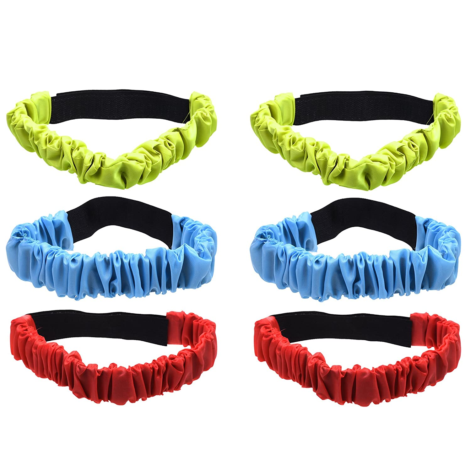 COSMOS 3-Legged Race Bands, Elastic Race Straps for Backyard Relay Game Party Game, 3 Different Colours, Pack of 6 B07413GG5D