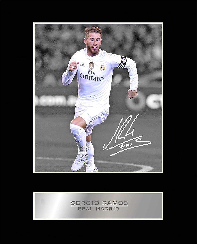 Sergio Ramos - Fotografía firmada del Real Madrid (número 1): Amazon.es: Hogar