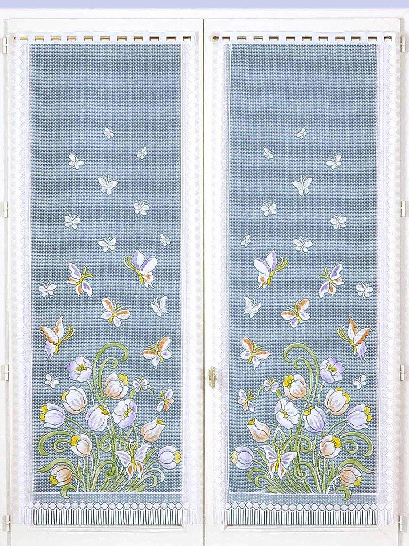 Bianco Unisex Coppia di vetri Dritti con Motivi Carre DAzur 120X44