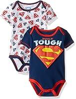 Warner Brothers Baby Boys' Superman 2 Pack Bodysuit Layette Set