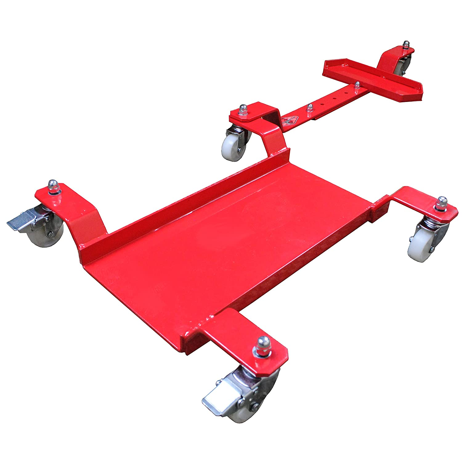 Big Horn Motorcycle Dolly | Generation 2 Low Profile Design | 1250 LBS Capacity | Adjustable For Sports Bikes Or Cruisers MCDBHRR1A