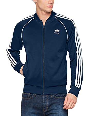 Adidas Men S Sst Track Jacket Collegiate Navy X Large Amazon In