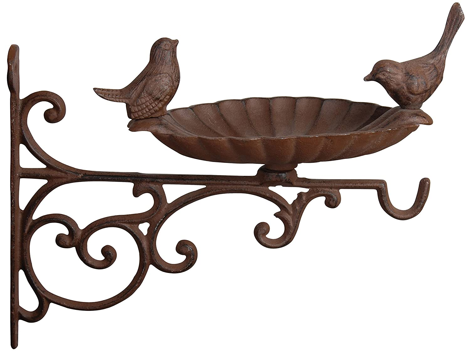 Esschert Design FB163 Cast Iron Birdbath with Bracket