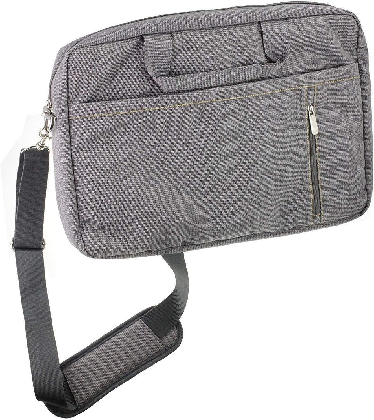 Navitech Grey Premium Messenger Bag - Compatible with The iOTA ONE, 10.1-Inch 2-in-1 Laptop…