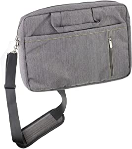 Navitech Grey Premium Messenger Bag - Compatible with The Acer Iconia One 10 B3-A50 | Acer Iconia One 10 B3-A50FHD