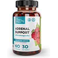 Adrenal Support & Cortisol Manager – Best Stress Relief Supplements for Adrenal Fatigue, Improved Mood & Focus & Energy Pills with Adaptogenic Herbs - Ashwaganda, Rhodiola Rosea, Ginseng, Licorice