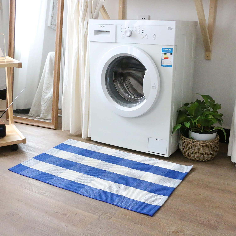 Homcomoda Doormats for Entrance Way Outdoors/Indoor Cotton Plaid ...