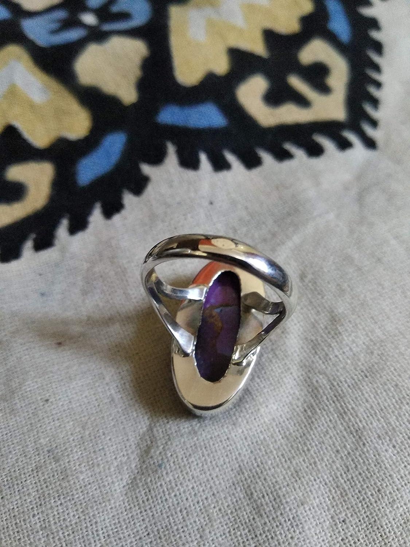 Healing Crystal Fine Jewelry Bohemian Jewelry Bridesmaid Gift Turquoise Jewellery Purple Copper Turquoise ring Antique Ring Genuine Turquoise Ring 925 Sterling Silver Turquoise Silver Ring