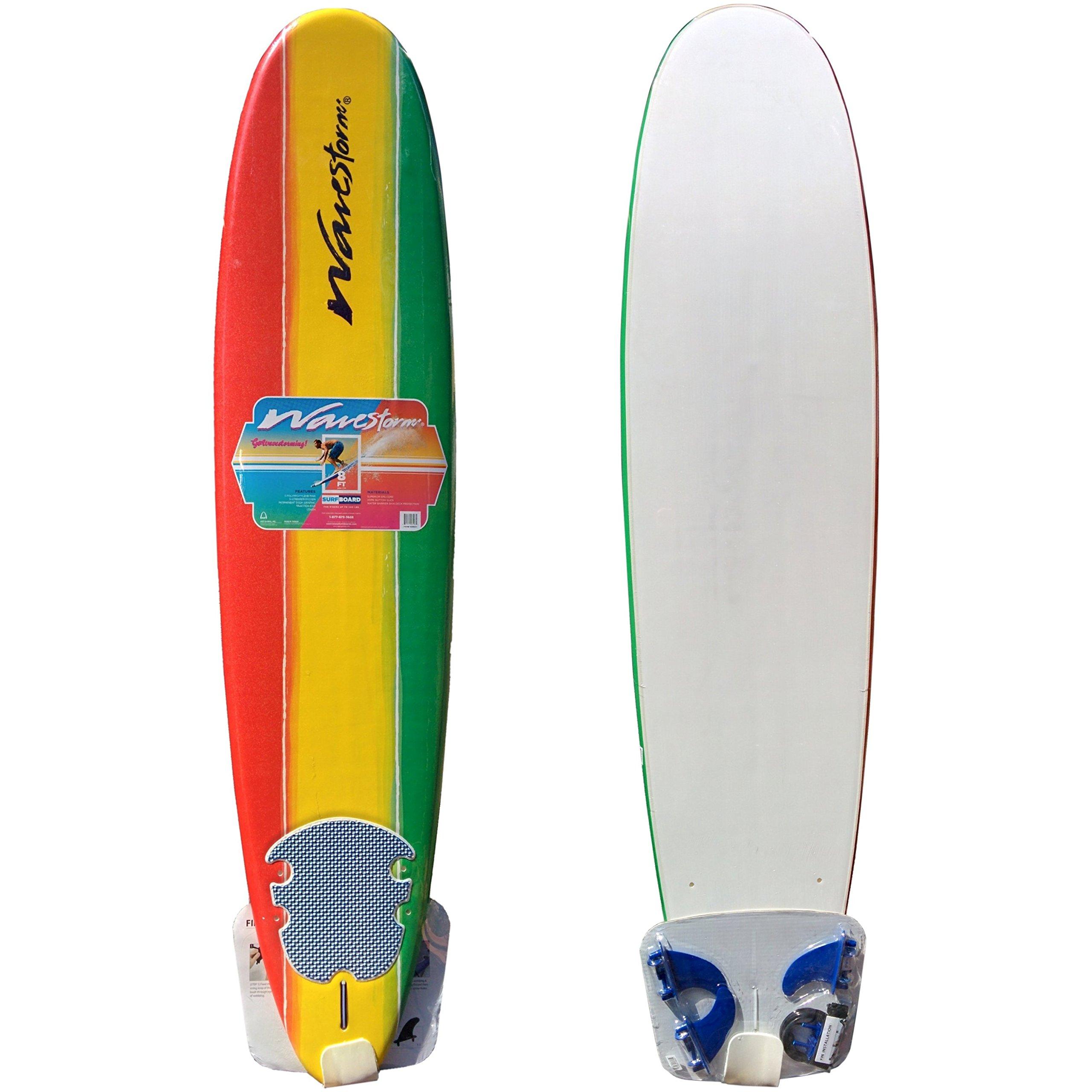 Wavestorm 8ft Classic Longboard Surfboard by Wavestorm (Image #1)