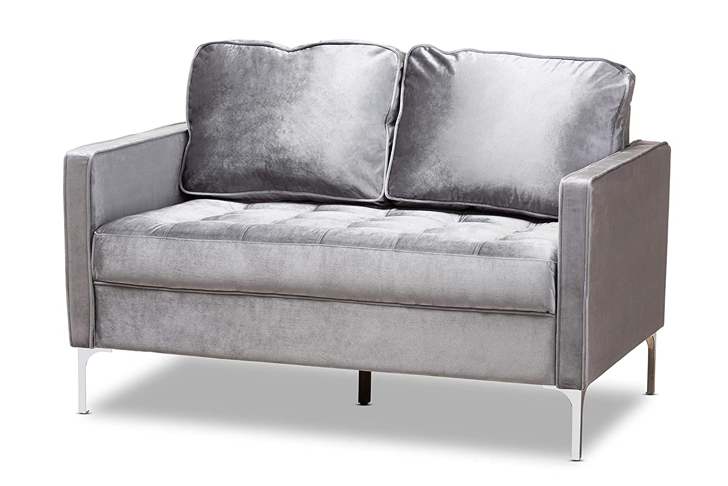 Amazon.com: Baxton Studio 150-8344-AMZ Loveseats, Grey ...