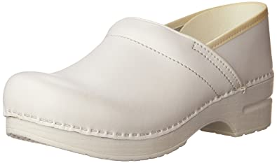 2a1ca8ec Dansko Women's Professional Box Leather Clog,White,35 EU / 4.5-5 B