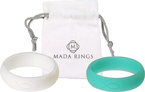 2 Pack mujeres anillo de silicona para By Mada anillos, color azul ...