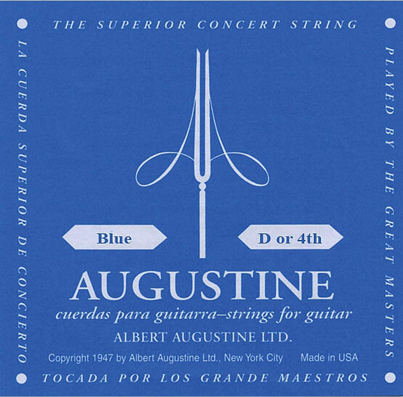 Augustine Cuerdas para Guitarra Clásica, Azul, Re4, Tensión Alto