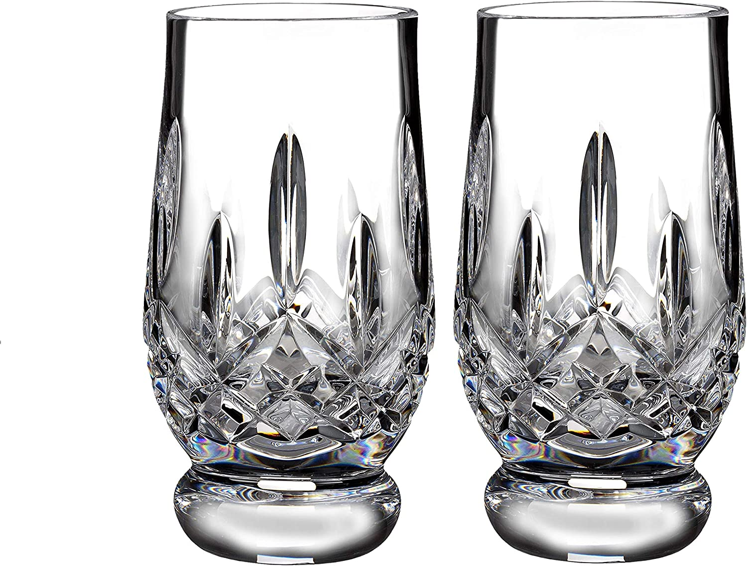 Waterford Connoisseur Footed 7oz Pair, Lead Crystal, 7 Fluid_Ounces, Lismore Tumbler FTD Tast 5.5oz Pr
