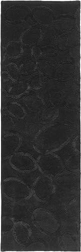 Safavieh Soho Collection Handmade Black Premium Wool Runner 2 6 x 10