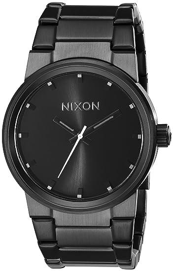64ebd71e1 Amazon.com: Nixon Cannon Watch - Men's All Black, One Size: Nixon ...