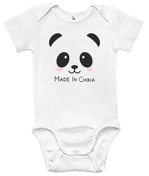 Amazon.com: Hecho en China bebé Bodysuits Cute Baby ropa ...