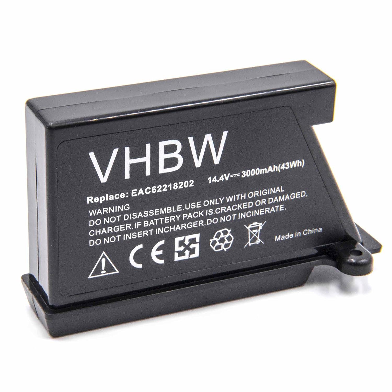 vhbw Li-Ion batteria 3000mAh (14.4V) per robot aspirapolvere home cleaner LG Hom-Bot VR5901LVM, VR5902LVM, VR5902LVMS, VR5903LVM, VR5906 VHBW4251476737334