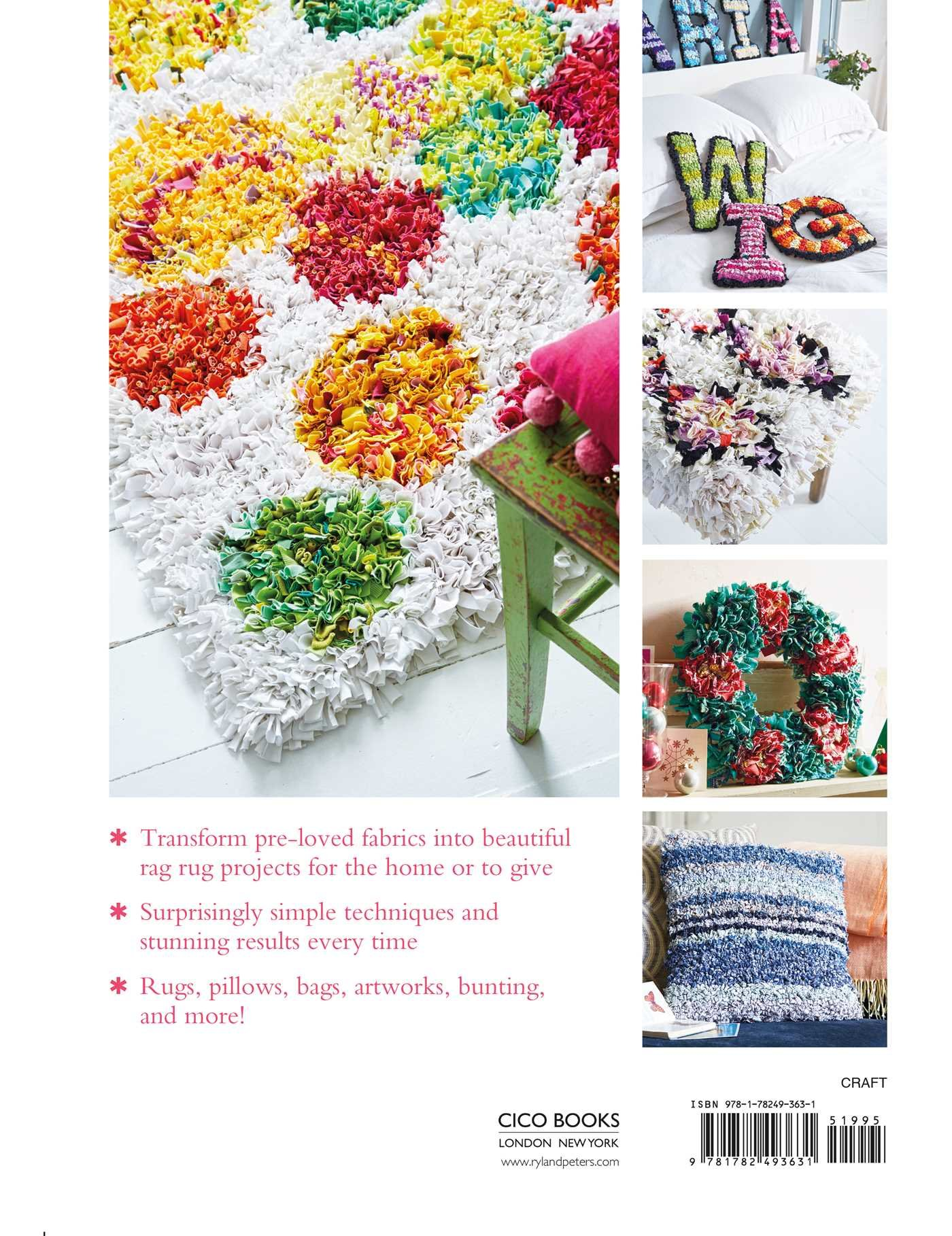 rag rugs pillows and more over 30 ways to upcycle fabric for the home elspeth jackson amazoncom books