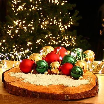 Christbaumkugeln Set Bunt.Weihnachtskugeln Set Bunt 42 Stk Christbaumkugeln Glas Baumschmuck Weihnachten Baumkugeln Christbaumschmuck F1