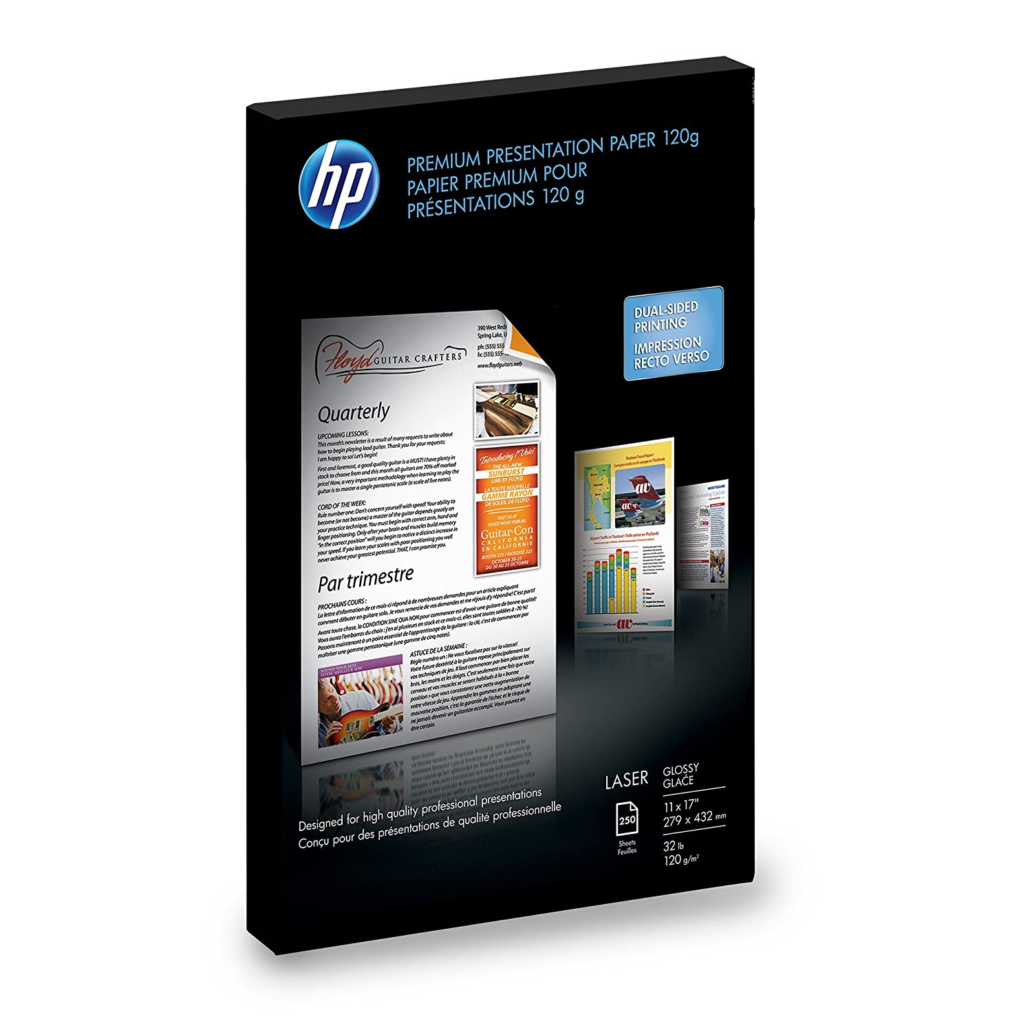 HP Color Laser Presentation Paper, Glossy (250 Sheets, 11 x 17 Inches) - Q2547A Hp - Hp Paper Office Supplies