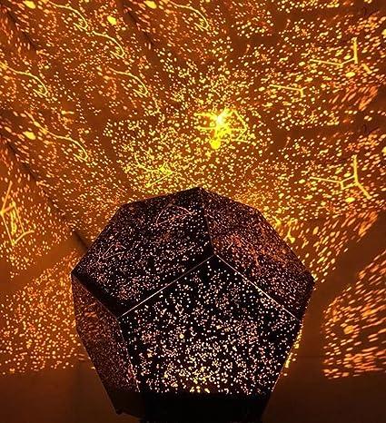 Vakey DIY Science Sky Projection Night Light Projector Lamp, Phantom Star Projector  Night Lamp With