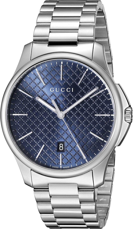 Gucci YA126316 - Reloj para Hombre, con Correa de Acero Inoxidable, de Color Azul