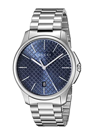 dc3e703cc11 Image Unavailable. Image not available for. Color  Gucci G-Timeless  Stainless Steel ...