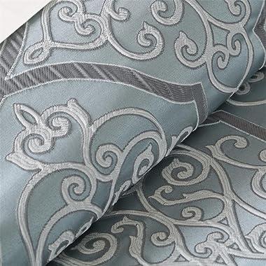 Madison Park LaVine 12 Piece Jacquard Comforter Set, Blue, Queen