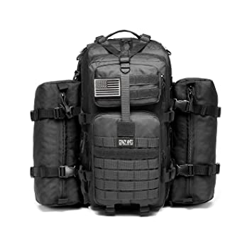 Amazon.com : Military Tactical Backpack Waterproof Outdoor Gear ...