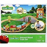 Fisher-Price Wood Sesame Street Wood 29-Piece Train Set