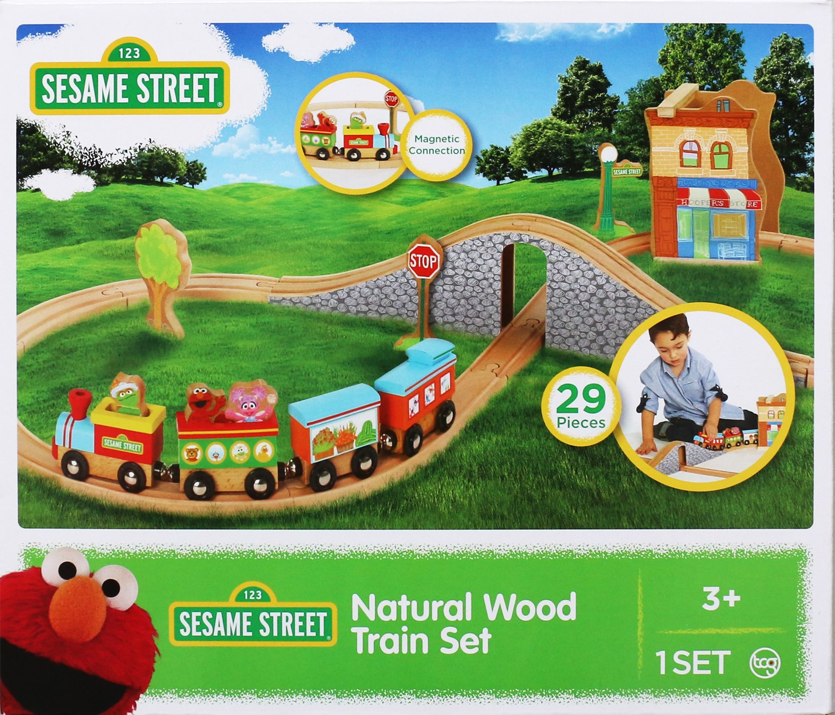 Fisher-Price Wood Sesame Street Wood 29-Piece Train Set