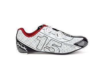 Spiuk 15 Road Carbono - Zapatilla de ciclismo unisex, color rojo/blanco, talla 38