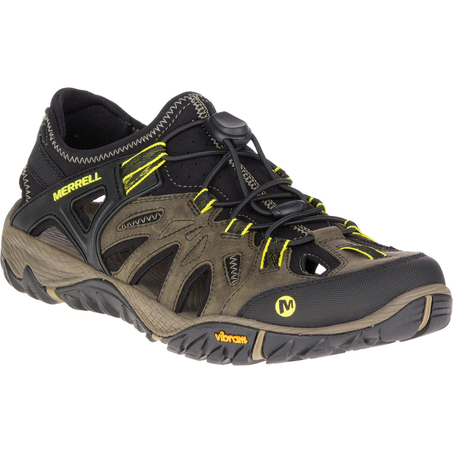 Merrell Men's All Out Blaze Sieve Hiking Shoe, Olive Night, 11 M US