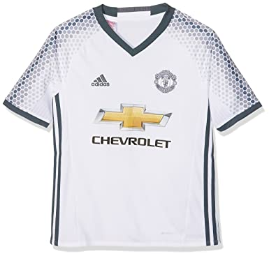 a4492b011bd adidas Manchester United FC Official 2016 17 SS Third Jersey - Youth -  White