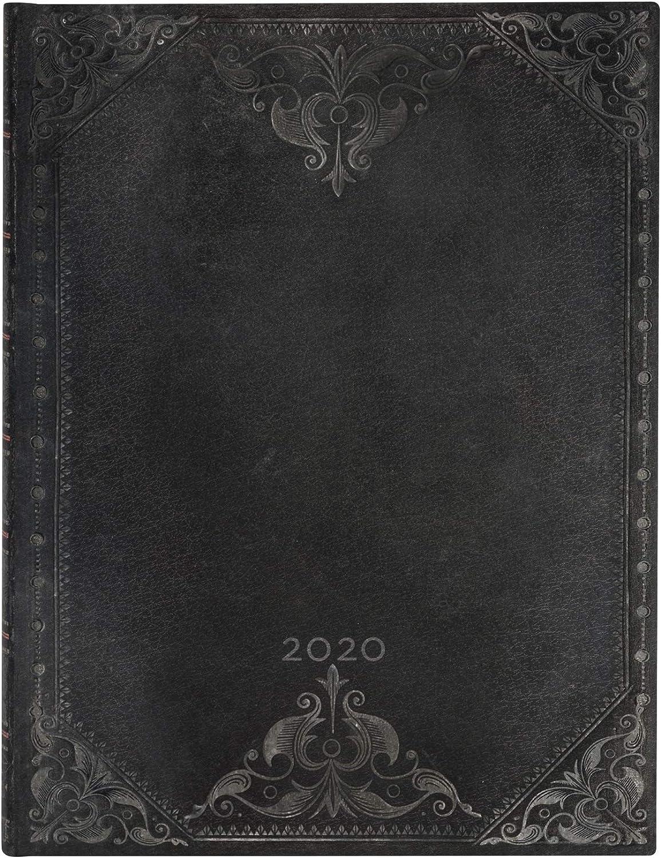 Midnight Rebel Schlicht |Verso Midi 180 x 130 mm Paperblanks 12-Monatskalender 2020