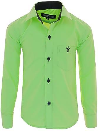 dc3dc4e4aa33e2 A7vDa Kinder Party Hemd Freizeit Hemd bügelleicht Lange Arm mit 10 Farben Gr.86Bis158  (