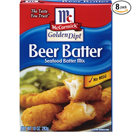 Amazon Com Mccormick Golden Dipt Beer Batter Seafood Batter Mix 10 Oz Pack Of 8 Grocery Gourmet Food