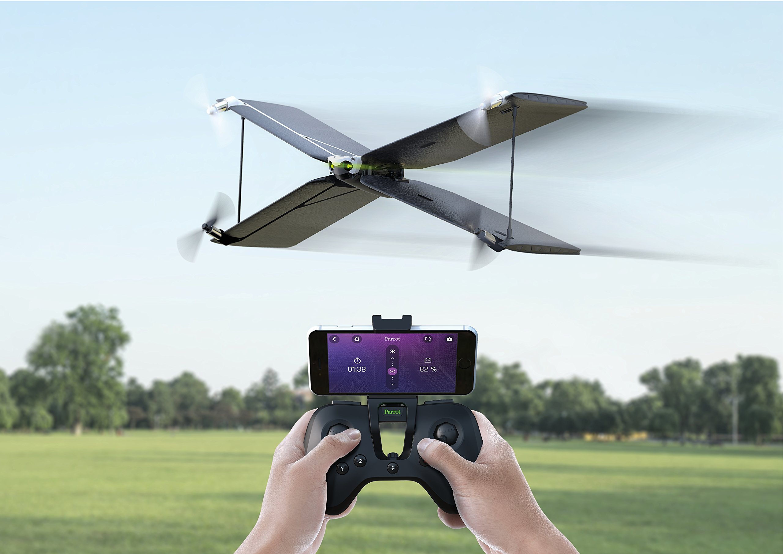 Parrot PF727003 Swing Quadcopter and Plane Minidrone with Flypad Controller