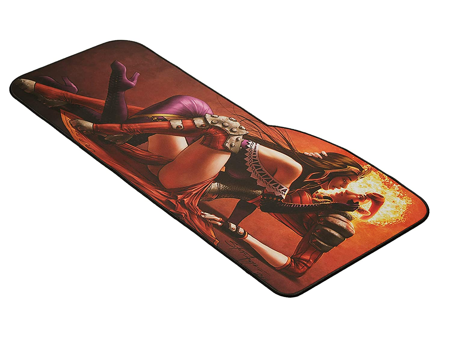 Overwatch Extended Size Custom Professional Gaming Mouse Pad Anti Slip Rubber Base Curve, Genji Stitched Edges 28.74 x 13 x 0.12