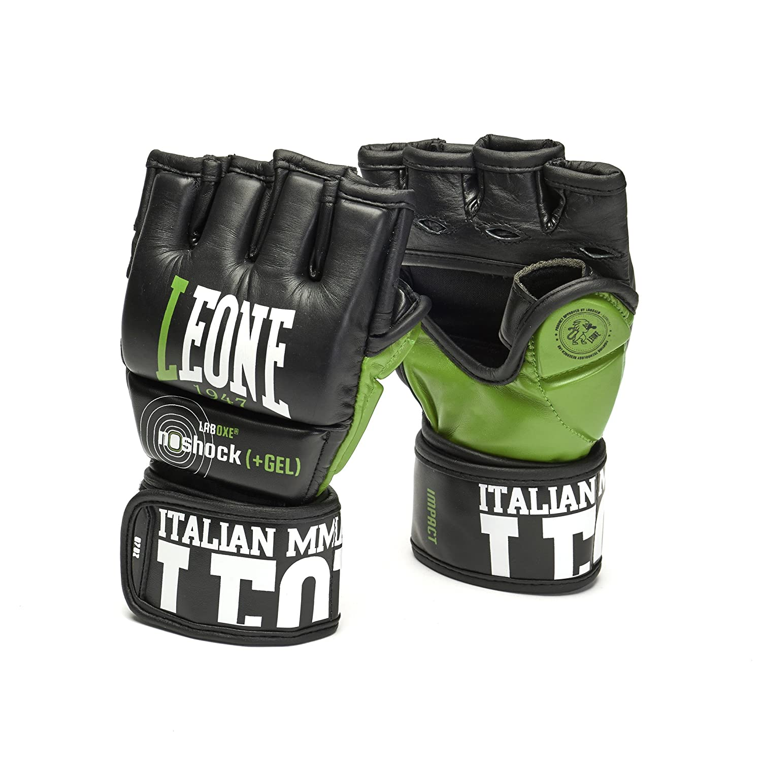 Grappling Gloves Martial Arts Sparring Gloves Punching Bag Cage Fight Gloves UFC Combat Training Gloves Impact Leone 1947 MMA Leather Gloves