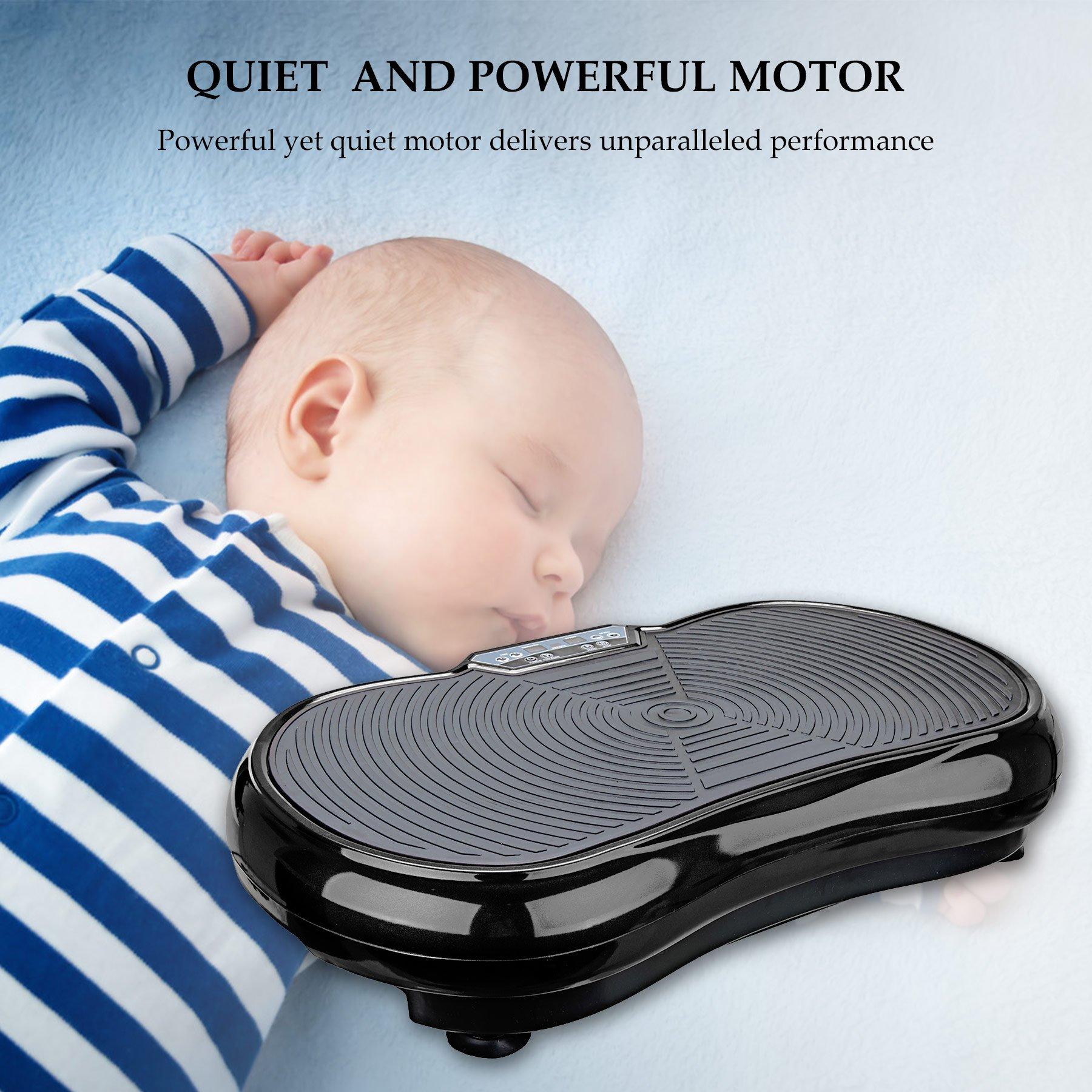 Whole Body Vibration Machine Crazy Fit Vibration Plate with Remote Control /& Resistance Bands Pinty Fitness Vibration Platform