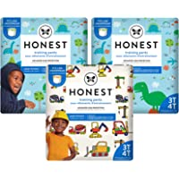 The Honest Company Training Pants | Club Box | Dinosaurs & Construction, 3t4t, 69ct, 69 Count