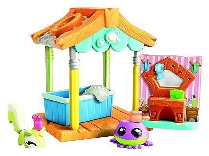 Amazon Com Animal Jam Pet Wash Hut Playset Toys Games