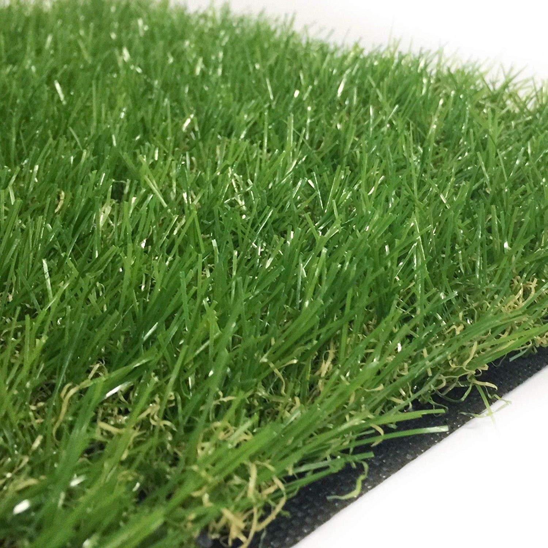 Ascot Erba Sintetica Altezza 4 cm Misura 4 x 1.5 Metri Doppio colore Effetto Reale Drenante e Resistente Raggi UV
