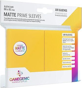 Gamegenic 100 Pack 66 x 91 mm Black Standard Size Matte Prime Sleeves