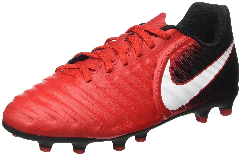 a66b445bf39d Amazon.com | Nike Kids Jr. Tiempo Rio IV (FG) Firm Ground Soccer Cleat (6 M  US Little Kid, University Red/White/Black) | Soccer