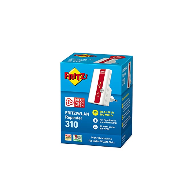 AVM 310 - Repetidor de red WiFi (300 Mb/s), color blanco [Importado] (interfaz sólo en alemán): Amazon.es: Informática