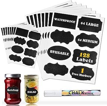 120pcs//roll Waterproof Chalkboard Pen Marker Labels Blackboard Tags Bottle Jar